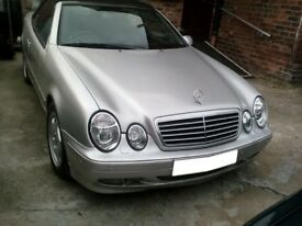 MERCEDES BENZ CLK A208 AVANTGARDE SILVER FRONT BUMPER WITH FOGLIGHTS AND PARKING SENSORS