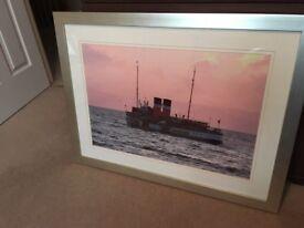 Large framed photograph of ship Waverley