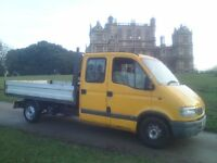 VAUXHALL MOVANO 2.5TDi, *7 SEATER CREWCAB TIPPER* 2004 53-REG, LWB, with 12 MONTHS MOT...!!!
