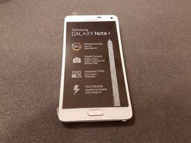 SAMSUNG GALAXY NOTE 4 32GB SIMFREE IN WHITE COMES WITH CHARGER AND THREE MONTHS WARRANTY
