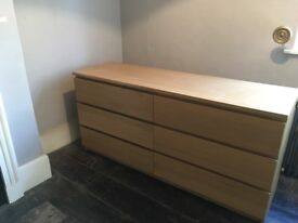 IKEA malm chest drawers 6 drawers