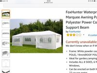 Fox hunter garden party marquee