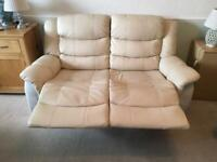 2 seater manual recliner sofa, good condition