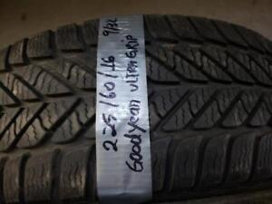 1 winter tire Goodyear ultra grip 225/60r16
