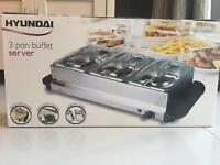 Hyundai 3 pan buffet server - brand new