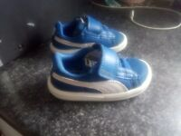 Boys toddler puma blue trainers size 4