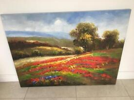 Large Creation canvas of poppies