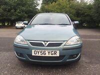 Vauxha Corsa SXI+ 56 plate 2 previous owners low milleage:35425 2x keys