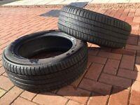 Michelin Primacy 3 Tyres x2. 205x55 r16 91v