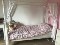Single bed, wardrobe, drawers, bookcase