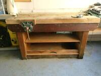 Heavyduty Woodwork Bench (Potential to be used as revamped Kitchen Island)