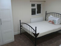 one bed for a MAN in room shared with 1 other person, clean calm house, onsuite toilet £375 pp inc