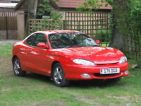 1998 HYUNDAI COUPE 2.0 MANUAL LOW MILEAGE 77K RED & BLACK LEATHER NEW MOT 09/19