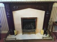 Mahogany fire surround with extras
