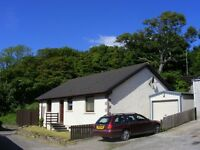 2 bed detached bungalow for rent seaside location, garage ,driveway ,garden ,summerhouse Ardersier.