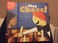 Portable chess set and manual for kids