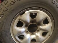 Toyota hilux spare wheel/tyre x2