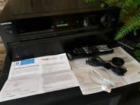 Onkyo 646 Dolby atmos. Kef speakers