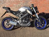 2015 (15) YAMAHA MT125 MT 125 MODEL SILVER AND BLUE