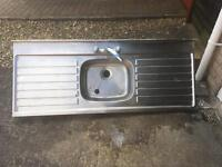 Stainless steel sink double drainer FREE