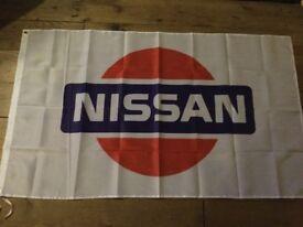 Nissan skyline Silvia Primera Almera sunny workshop flag banner
