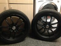 4 x alloy wheels and tyres