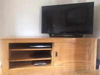 Next solid oak TV Unit