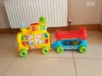 Vtech baby ride-on alphabet train