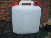 Fresh water container (10litre) for use whilst camping / caravanning