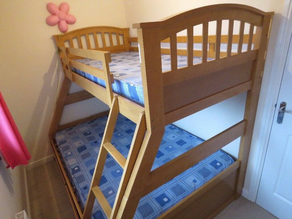 Bunk Bed Wooden Triple Sleeper By Joseph Furniture In Newton