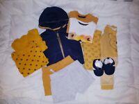 6 Bundle of 0-3 baby boy clothes