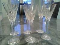 Six Crystal Glasses