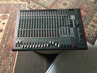 Allen and Heath Zed R 16 analogue mixing desk with firewire