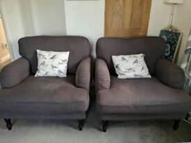 Ikea stocksund armchairs