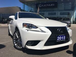 2015 Lexus IS 250 1 Owner Nav Lthr AWD Btooth Sroof BUcam