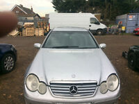 mercedes c class w203 coupe c180 compressor silver auto breaking for spares and repairs call parts