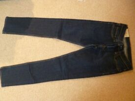 BOYS' HOLLISTER JEANS, DARK INDIGO, W30 X L32, SUPER SKINNY, AS NEW, NEVER WORN