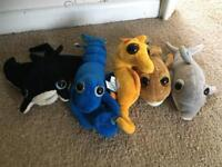 Seapal cuddly toys/finger puppets