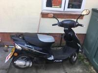 Black Scout Pulse 49 Moped 50cc 64 Plate