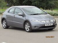 HONDA CIVIC 1.8 2006 SE I-VTEC 6 SPEED 5 DOOR NEW MOT GOOD SERVICE HISTORY 8 STAMPS FULL LEATHER