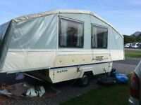 Dandy Destiny 6 Berth Folding Camper with Progas Heater, 4 ring stove and grill