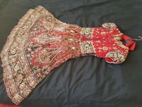 Indian wedding lengha dress with dupatta