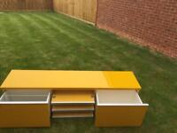 IKEA TV unit and wall unit Yellow