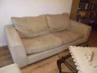 3 Piece Suite (Three seater sofa, armchair and foot stall)