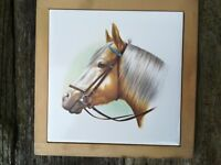 Framed Horse Head Ceramic Tile