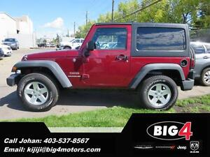 2011 Jeep Wrangler Sport, HAard Top, Alloys, A/C, PRICE DROP!!!