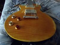 Left Handed/Left Hand Vintage Lemon Drop Electric Guitar And Marshall Amplifier/Modelling Amp