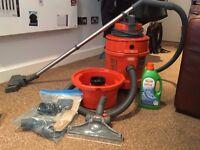 3-in-1 carpet/vacuum cleaner with accessories