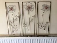 Set of three Metal Pictures