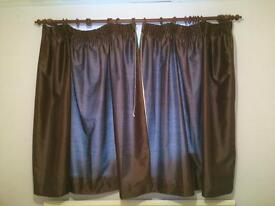 Lined chocolate brown curtains